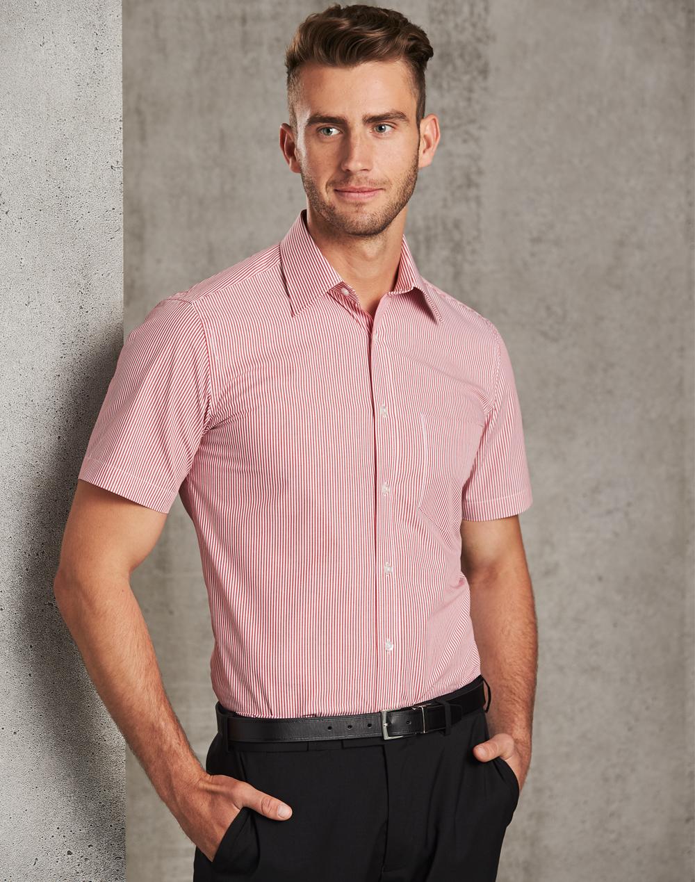 M7231 Men's Balance Stripe Short Sleeve Shirt