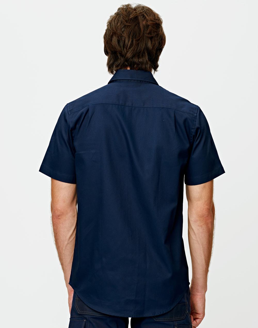 WT03 Cotton Drill Short Sleeve Work Shirt